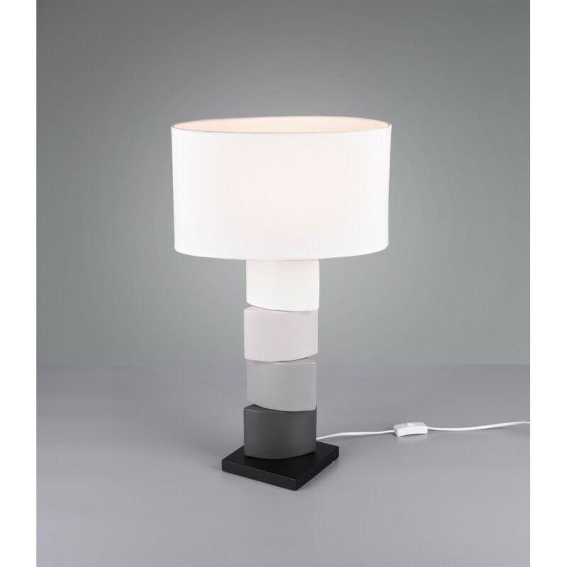 Trio KANO R50781901 éjjeli asztali lámpa fehér kerámia excl. 1 x E27 E27 1 db IP20