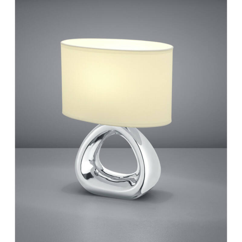 Trio GIZEH R50841089 asztali lámpa ezüst kerámia excl. 1 x E27, max. 60W E27 1 db IP20
