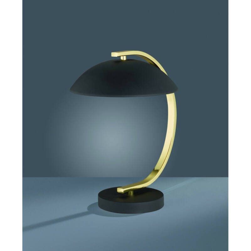 Trio RETRO R50881032 éjjeli asztali lámpa matt fekete fém excl. 1 x E14, max. 40W E14 1 db IP20