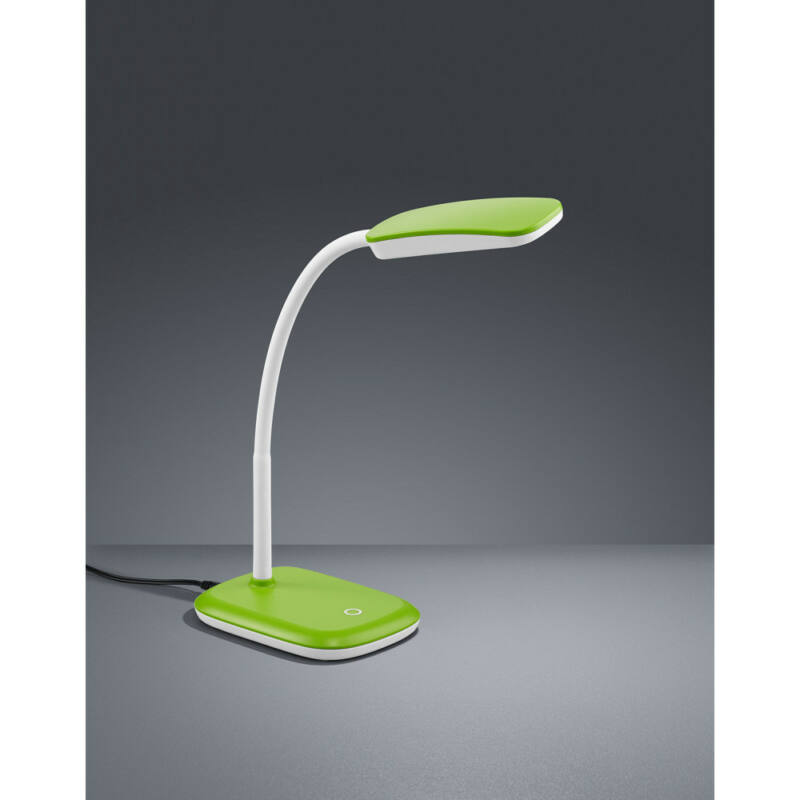Trio BOA R52431115 ledes asztali lámpa zöld műanyag incl. 1 x SMD, 3,5W, 3000K, 350Lm 350 lm 3000 K IP20 A+