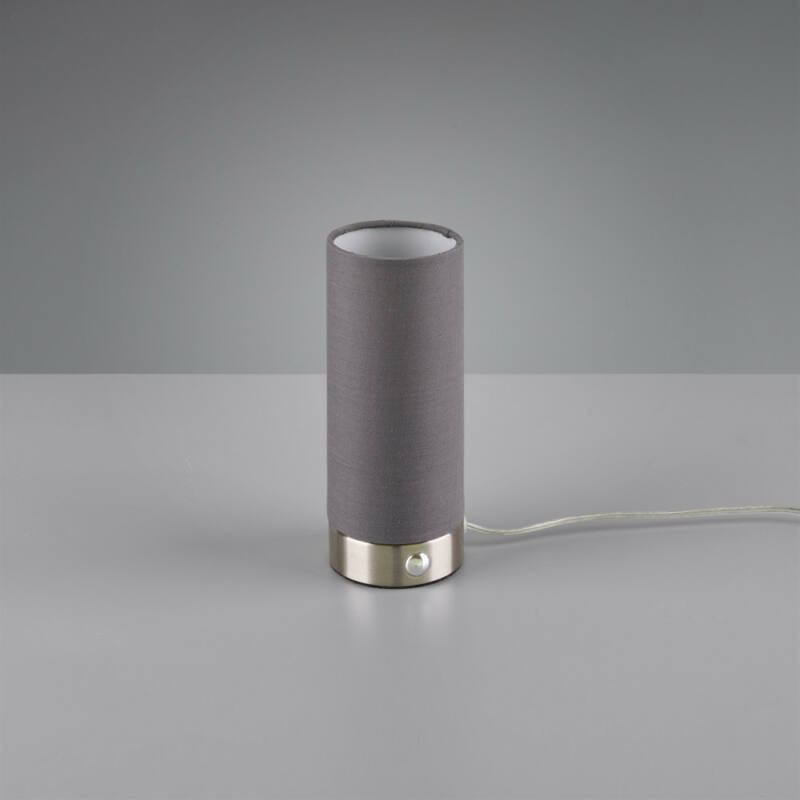 Trio EMIR R52460111 éjjeli asztali lámpa szürke szövet incl. 5,5W LED, 3000K, 370Lm SMD 1 db 370 lm IP20 A+
