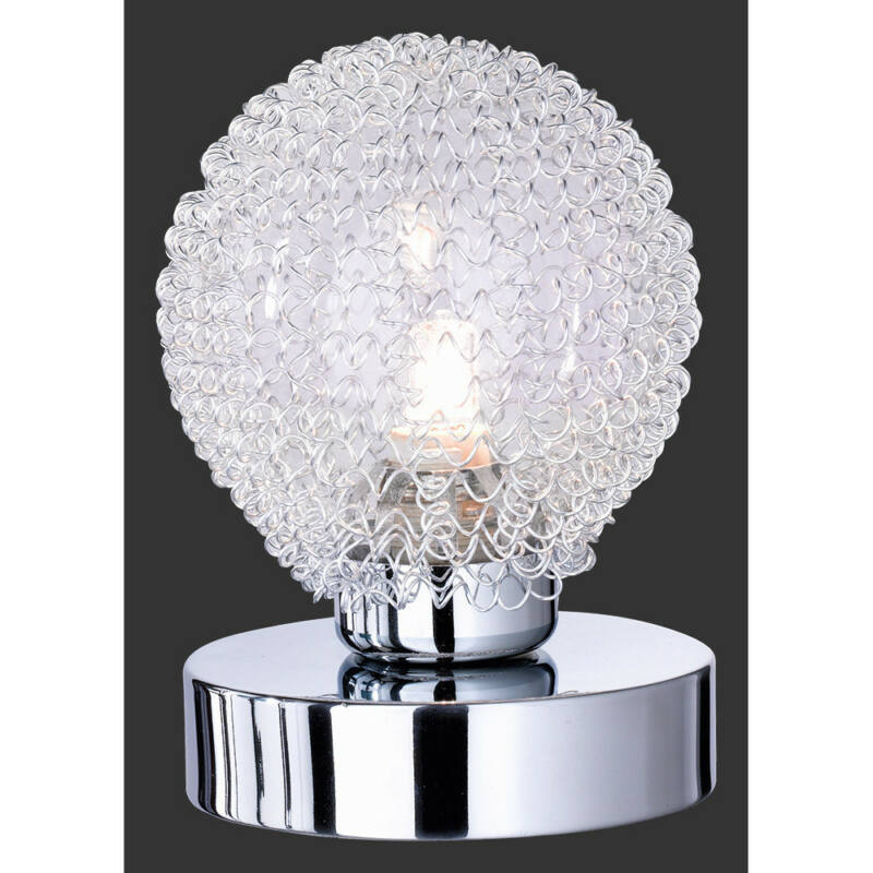 Trio WIRE R59321106 érintőkapcsolós asztali lámpa króm incl. 1 x G9, 28W, 2800K, 370Lm G9 1 db