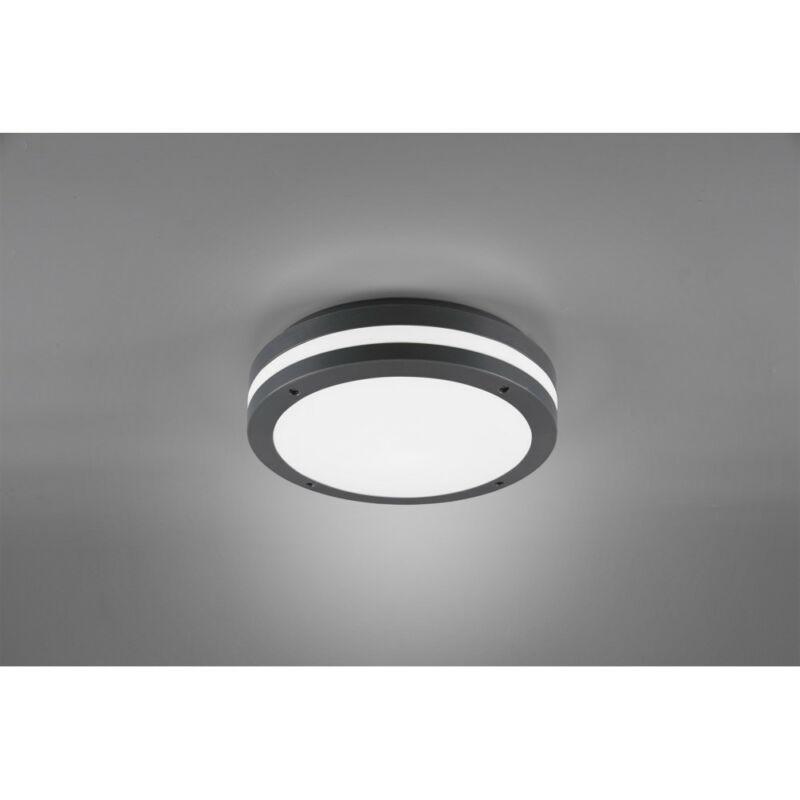 Trio KENDAL R62151142 kültéri mennyezeti led lámpa antracit műanyag incl. 12W LED, 3000K, 1000Lm SMD 1 db 1000 lm IP54 A