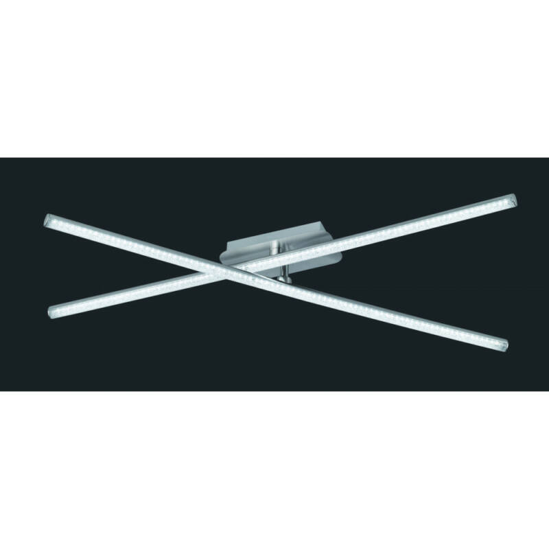Trio CHAUSSEE R62462100 mennyezeti lámpa  matt nikkel   fém   incl. 2 x SMD, 8W, 4000K, 800Lm   800 lm  4000 K  IP20   A+