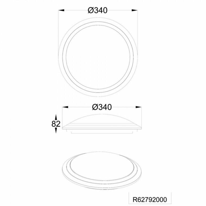 Trio MIZAR R62792000 ufó lámpa  szürke   műanyag   incl. 1 x SMD, 18W, 3000 - 5500K, 1800Lm   1800 lm  3000 K  IP20   A