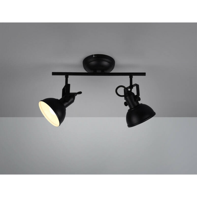 Trio GINA R80152032 mennyezeti lámpa  matt fekete   fém   excl. 2 x E14   E14   2 db  IP20