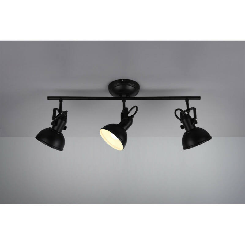 Trio GINA R80153032 mennyezeti lámpa  matt fekete   fém   excl. 3 x E14   E14   3 db  IP20