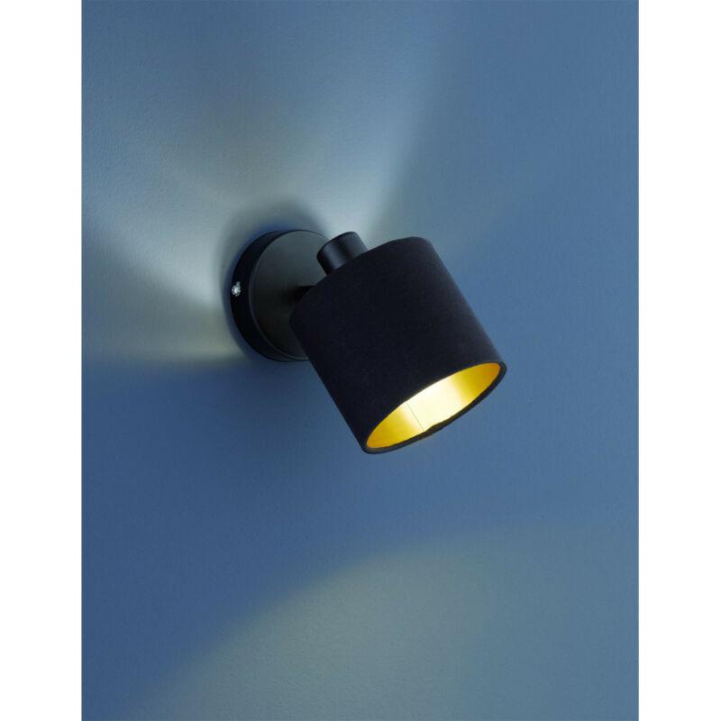 Trio TOMMY R80331079 fali lámpa matt fekete fém excl. 1 x E14, max. 28W E14 1 db IP20