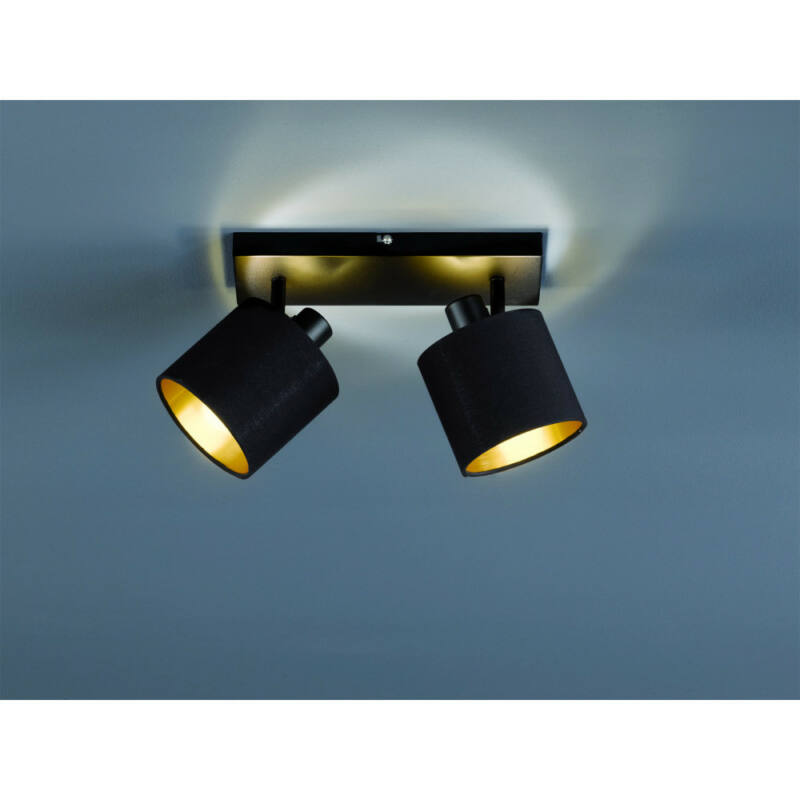 Trio TOMMY R80332079 mennyezeti lámpa  matt fekete   fém   excl. 2 x E14, max. 28W   IP20