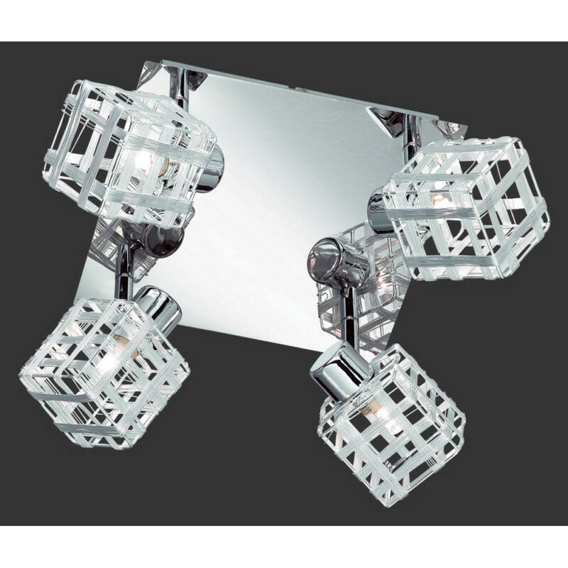 Trio JAIL R81354106 mennyezeti lámpa króm incl. 4 x G9, 28W, 2800K, 370Lm G9 4 db