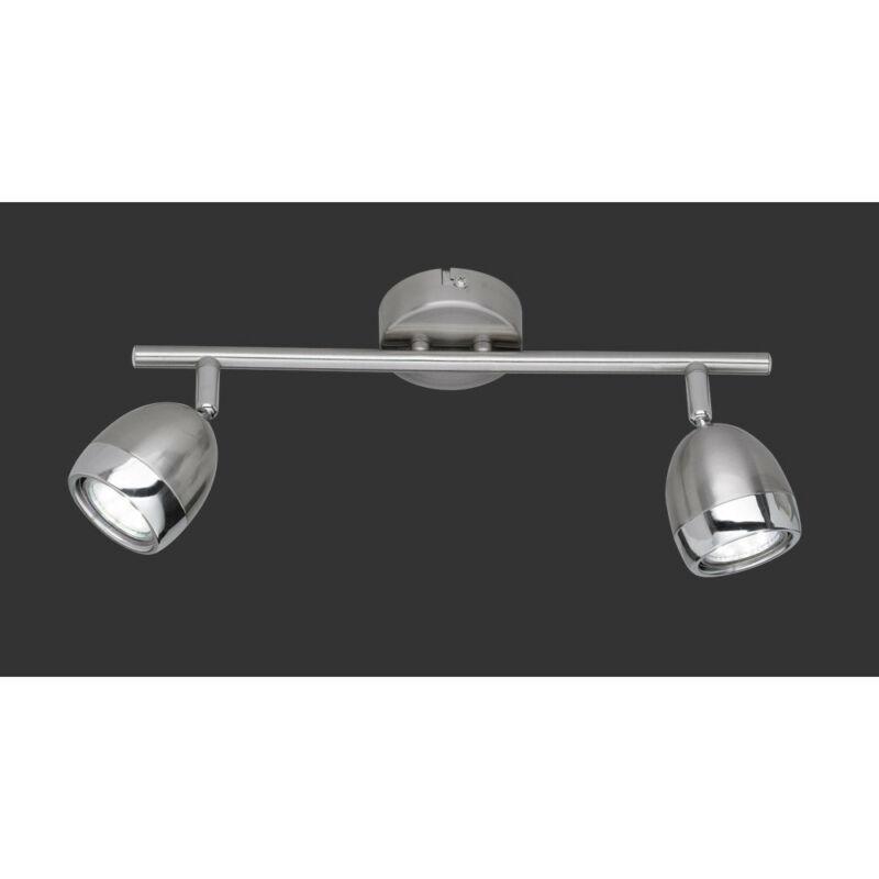 Trio NANTES R82102107 mennyezeti lámpa matt nikkel fém incl. 2 x GU10, 3W, 3000K, 250Lm GU10 2 db 230 lm 3000 K IP20
