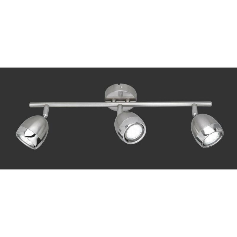 Trio NANTES R82103107 mennyezeti lámpa matt nikkel fém incl. 3 x GU10, 3W, 3000K, 250Lm GU10 3 db 230 lm 3000 K IP20
