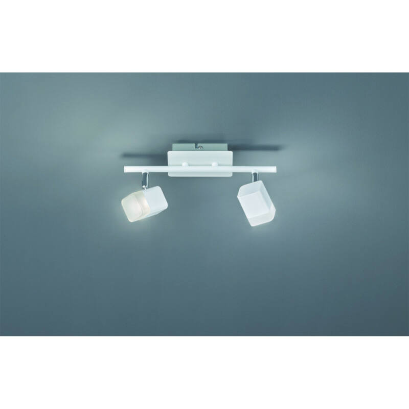 Trio ROUBAIX R82152131 mennyezeti lámpa  matt fehér   fém   incl. 2 x SMD, 4W, 3000K, 400Lm   400 lm  IP20   A+