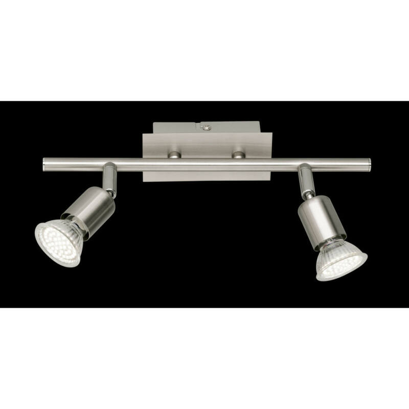 Trio NIMES R82942107 mennyezeti lámpa  nikkel   fém   incl. 2 x GU10, 3W, 3000K, 280Lm   300 lm  2700 K  IP20
