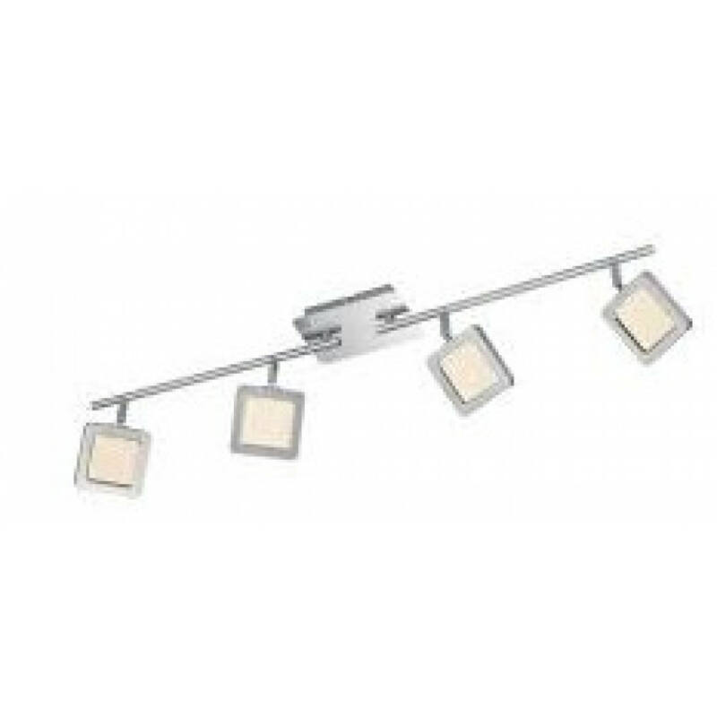 Trio VISION 872610407 mennyezeti lámpa  matt nikkel   fém   incl. 4 x SMD, 4,3W, 3000K, 380Lm   380 lm  3000 K  IP20   A+